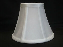 Urbanest Chandelier Shade Bell Shape in White SIlk 3quot; x 6quot; x 5quot; Clip On $7.99