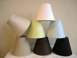 Urbanest Linen Mini Chandelier Lamp Shade Clip On Hardback 3quot;x 6quot;x 5quot; $8.54