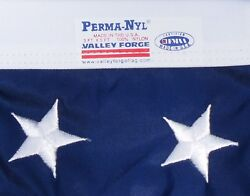 Commercial Grade Valley Forge US American Flag 3#x27;x5#x27; sewn Nylon 100% USA Made