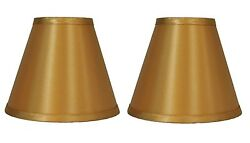 Urbanest Gold Satin Hardback Chandelier Mini Lamp Shades Set of 2 3quot;x6quot;x5quot; $12.82