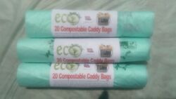 7 Litre Compostable Bags Caddy Bin Liners Food Waste Bags Bio Bags. GBP 6.99