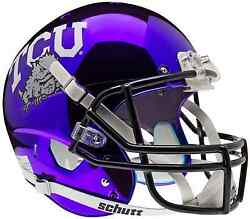 TCU HORNED FROGS Schutt AiR XP Full-Size REPLICA Football Helmet