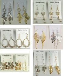 A 010 Wholesale Jewelry lot 12 pairs Mixed Style Drop Fashion Dangle Earrings