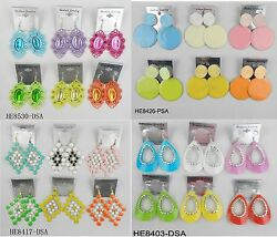 A 009 Wholesale Jewelry lots 10 pairs Mixed Style Colorful Drop Fashion Earrings