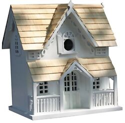 Home Bazaar GINGERBREAD COTTAGE w bracket Birdhouse Garden Outdoor Decorations