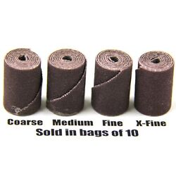 10 Pieces 3M Aluminum Oxide Cartridge Rolls (ALL GRITS AVAILABLE)