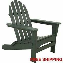 Adirondack Patio Outdoor Polywood Furniture Folding Chair Green Ecofriendly