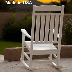 Patio Outdoor Polywood Rocker Deck Furniture Rocking Chair Made in USA White