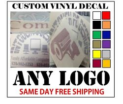 CUSTOM VINYL DECALS STICKER ANY LOGO OR IMAGE FAST FREE SHIPPING $4.00