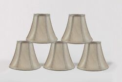 Urbanest Chandelier Mini Lamp Shade Softback Bell Champagne 3quot;x6quot;x5quot; set of 5 $25.99