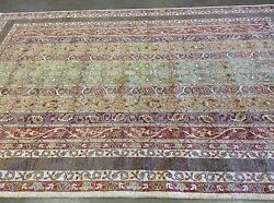 6 x 9 Rust Green Purple Shawl Persian Oriental Rug Handwoven High Quality Wool