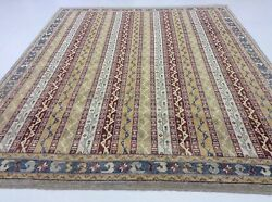 8 x 10 Red Ivory Shawl Persian Oriental Rug Large Hand Knotted High Quality Wool