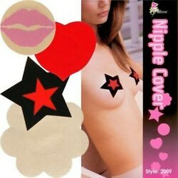 NEW 48 PAIR NIPPLE COVER 4 DESIGNS BREAST PASTIES PETALS CLUB WEAR STRIPPER 2009