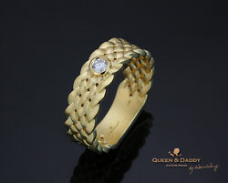 To Weave a Love - 18K(750) yellow gold design diamond wedding band for men