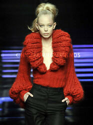 SEXY RUNWAY HAND KNITTED SWEATER ONE OF A KIND HEAVY LUXURIOUS SOFT GORGEOUS!