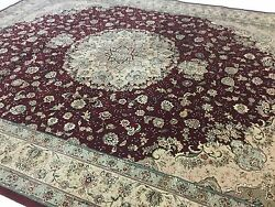 12 x 15 Red Tabriz Persian Oriental Rug Oversized Hand Knotted Wool