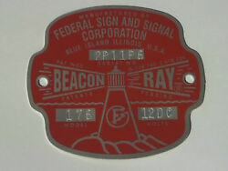 Federal Sign and Signal Model 176 Beacon Ray Replacement Badge $25.50