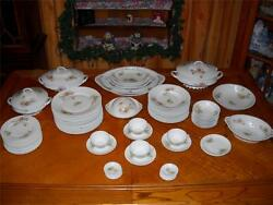 Set of 49 Antique Victoria Carlsbad Austria Victorian Porcelain Immaculate $750.00