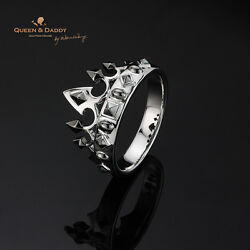 The Muse's Crown - 18K(750) white black gold design ring for men