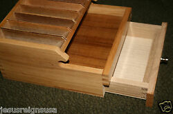Jewelers Tool Plier Stand Box Rack Chest Work Bench Shelf Wood 10 Section Holder