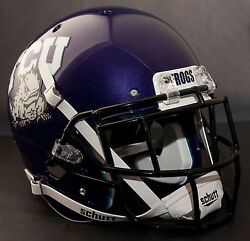 *CUSTOM* TCU HORNED FROGS Schutt XP Gameday REPLICA Football Helmet wEGOP