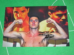 Hull Boxer Tommy 'Boom Boom' Coyle Signed & Inscribed Pre-Fight Pose Photograph