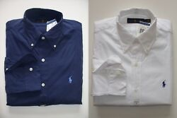 Men Polo Ralph Lauren Button-down Poplin Shirt Size S M L XL XXL - CLASSIC FIT