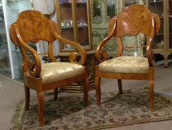 Antique Biedermeier chairs pair $2899.19