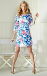 New Lilly Pulitzer Resort White She She Shells HARBOUR TUNIC Dress XS S Starfish