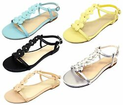 Caleb 10 New Gladiator Floral Stone Flat Cute Comfort Sandals Party Women Shoes $12.59