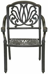 Outdoor Patio Dining Chairs Cast Aluminum Set of 4