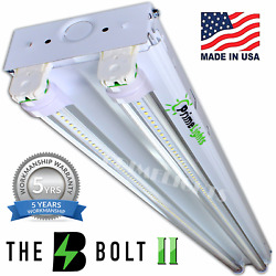LED 4' ft. 2 Lamp T8 Commercial Strip Shop Surface Light - BRIGHT = 2 Lamp T5HO $57.00