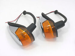 TURN SIGNAL ASSEMBLY WITH AMBER LENS FITS VOLKSWAGEN TYPE1 BUG 1964-1969 2pcs $32.99