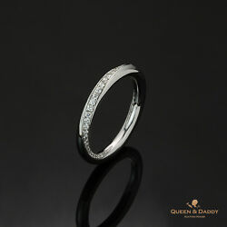 Echo from the Galaxy - 18K(750) White Gold Diamond Design Wedding Band for Women