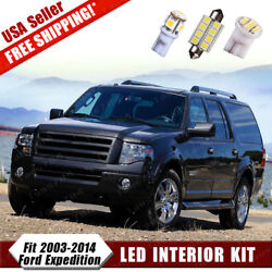 18X White LED Interior Light Bulb Package Deal Kit For 2003-2014 Ford Expedition $6.99