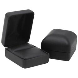 Black Jewelry Leather Gift Box for Ring with Ring holder wedding engagement new $1.89