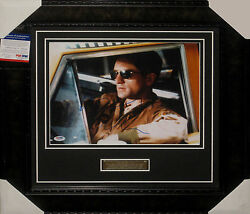 ROBERT DENIRO TAXI DRIVER SIGNED & FRAMED 11X14 PSA DNA AUTHENTICATED G78101