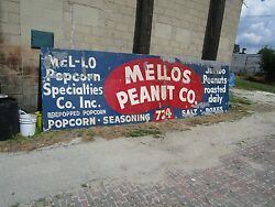 Very Large Exterior Sign Mellos Peanut Co.