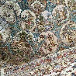 One of a kind Tabriz Four Season life in a paisley Persian Oversize rug 5x5 M