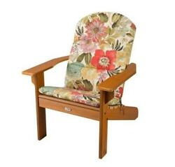OUTDOOR ADIRONDACK CHAIR CUSHION Pads BRIGHT FLORAL New