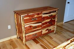 Dresser Chest of Drawers Rustic Red Cedar Hancrafted Log Furniture - SUPER NICE!