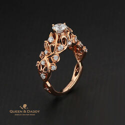 Queen's Salon Stool - 18K(750) Rose Gold GIA 0.52ct Diamond Engagement Ring