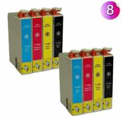 8PK COMPATIBLE SERIES INK CARTRIDGES FOR EPSON STYLUS INKJET PRINTER T1285 $8.77