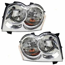 FITS FOR 2005 2006 2007 JEEP GRAND CHEROKEE HEADLIGHTS RIGHT & LEFT PAIR $88.41