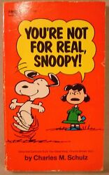 You#x27;re No For Real Snoopy Peanuts 1971 SC Charles Schulz VINTAGE Fawcett Crest $4.99