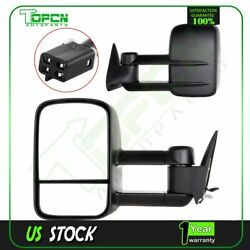 POWER Tow Side Mirror Pair For 88-98 Chevy GMC CK 150025003500 Towing Mirrors $94.64