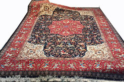 One of a kind Grand masterpiece Aalabaf of Tabriz Persian Rug 11x17 80 Raj