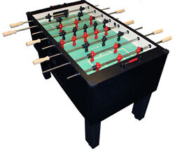 Gold Standard Home Pro Carbon Fiber Foosball Table Chrome Rods and Wood Handles