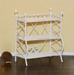 Dollhouse Miniature White Wire Victorian Floor Shelves $9.99