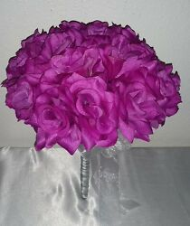 Violet Rose Bridal Wedding Bouquet Package